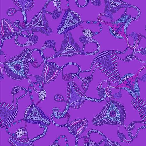FÖRHANDSBOKNING! Bomullsjersey Uterus Purple