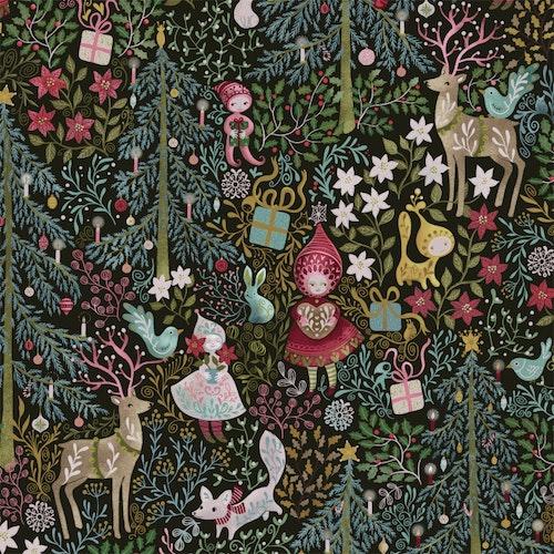 FÖRHANDSBOKNING! Bomullsjersey Maximalist Christmas