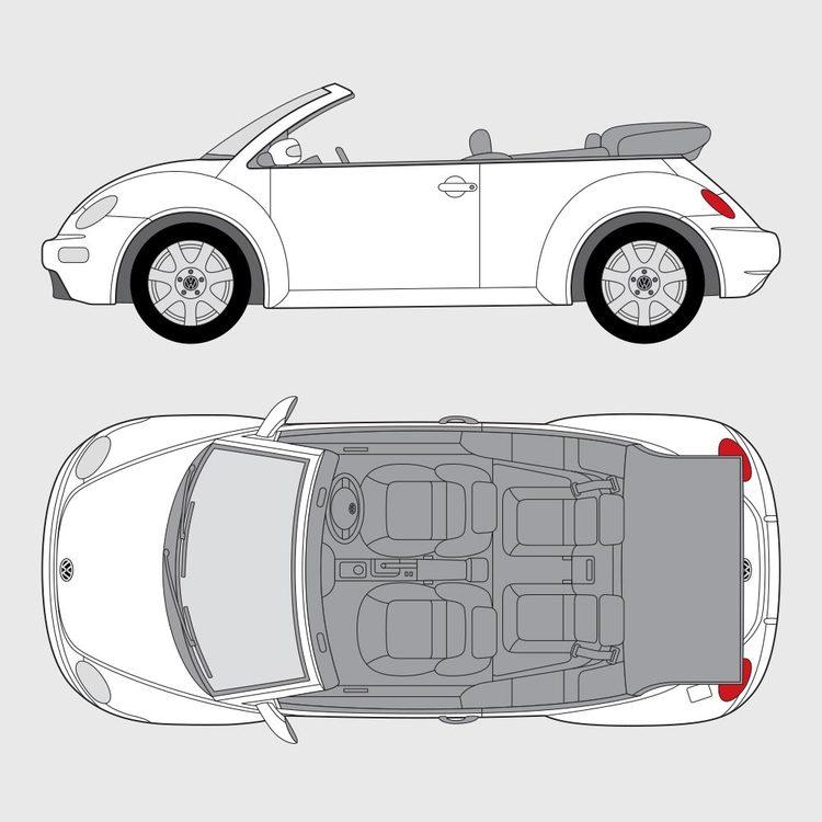 Volkswagen Beetle Cab 2003-2015