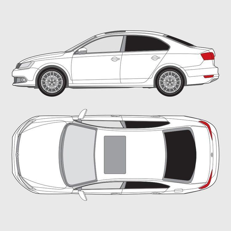 Volkswagen Jetta 4-dörrar 2011-2018
