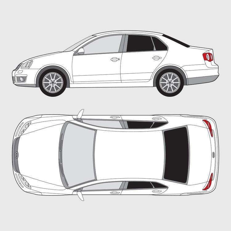 Volkswagen Jetta 4-dörrar 2005-2010