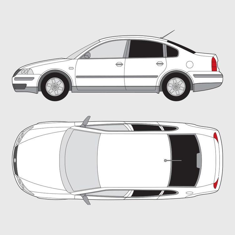 Volkswagen Passat 4-dörrar 2001-2005