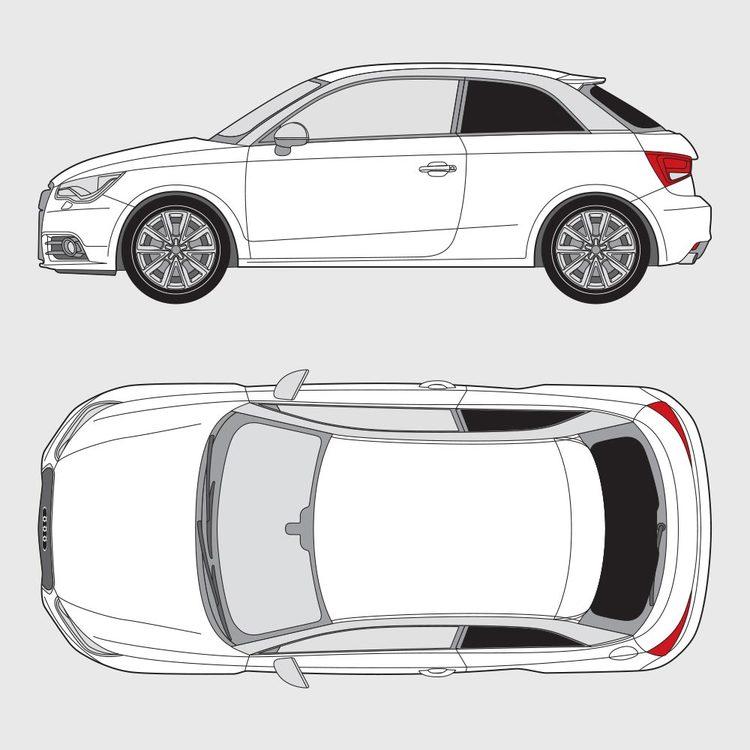 Audi A1 3-dörrar 2010-2017