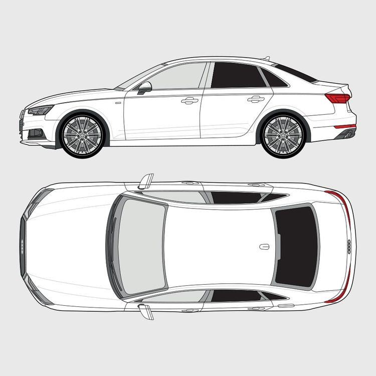 Audi A4 4-dörrar 2016-2020