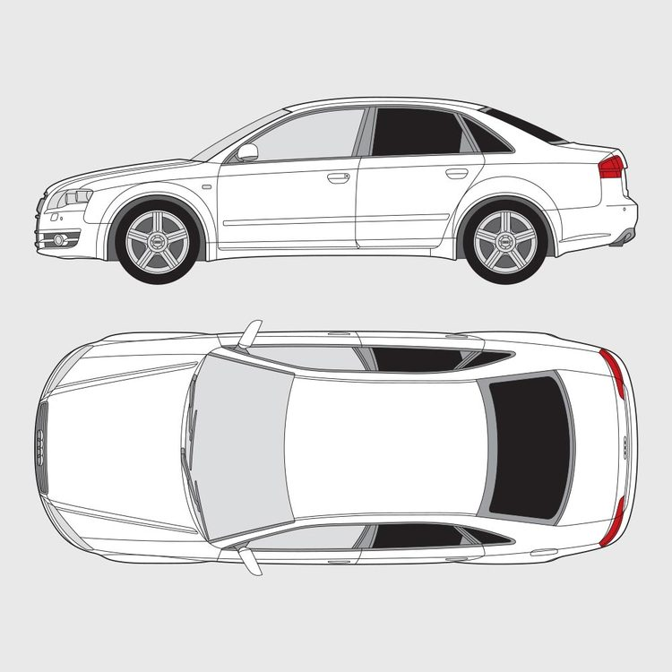 Audi A4 4-dörrar 2004-2007