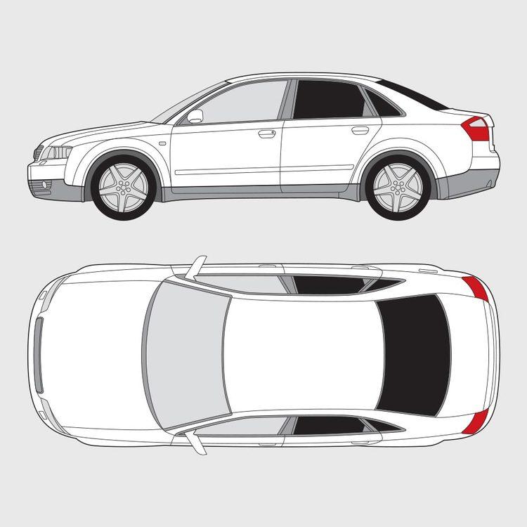 Audi A4 4-dörrar 2000-2004