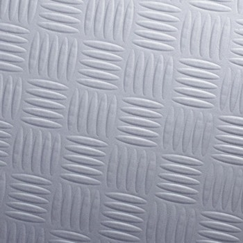 Silver chequer plate steel