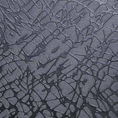 Silvery grey crackled fabric