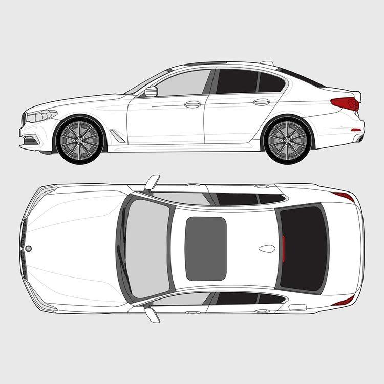 BMW 5 Serie 4-dörrar G30 2017-
