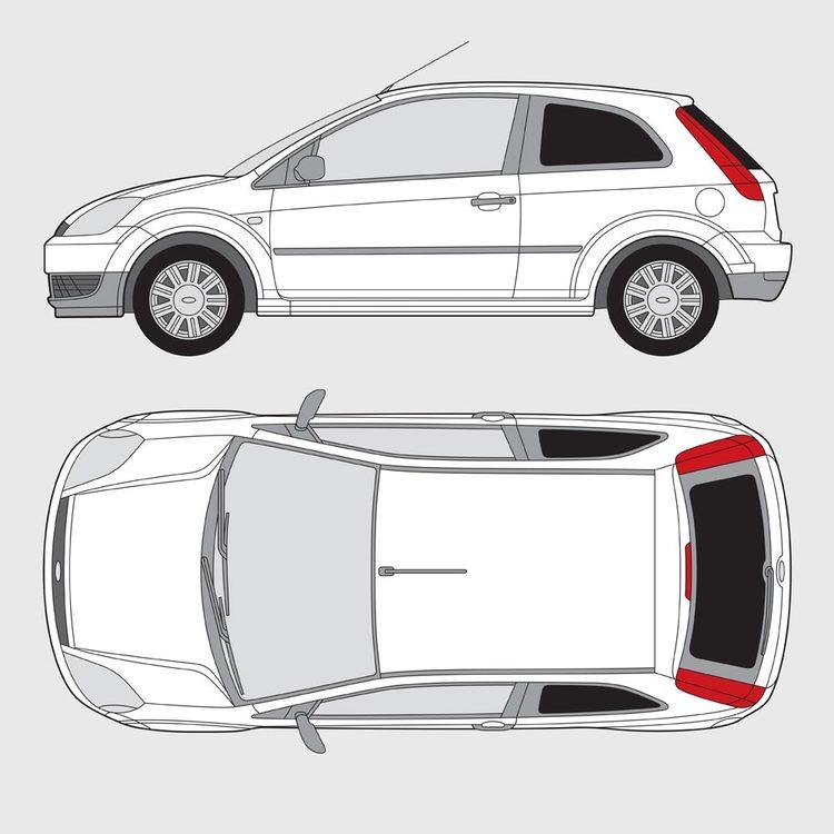 Ford Fiesta 3-dörrar 2001-2008