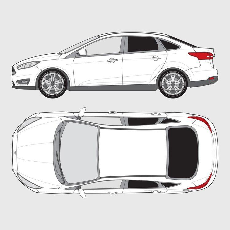 Ford Focus 4-dörrar 2015-2019