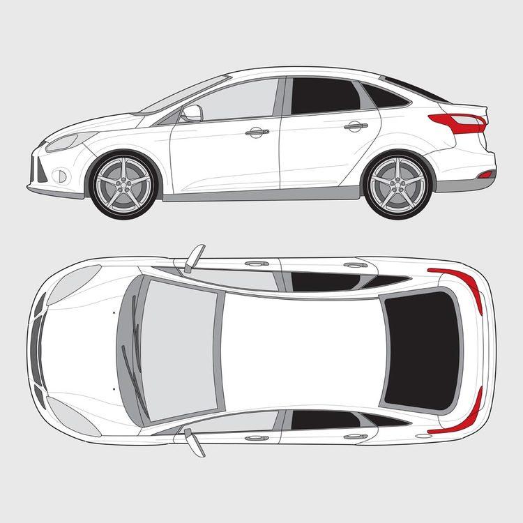 Ford Focus 4-dörrar 2010-2015