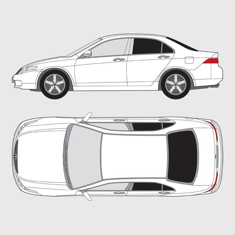 Honda Accord 4-dörrar 2003-2008
