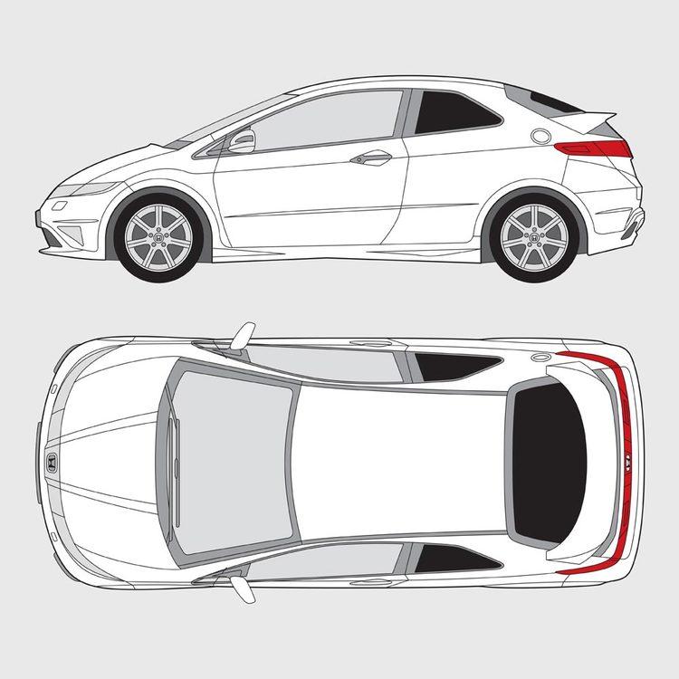 Honda Civic 3-dörrar 2007-2012