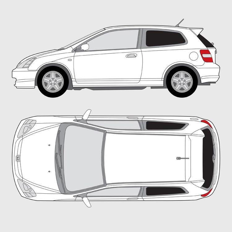 Honda Civic 3-dörrar 2001-2006