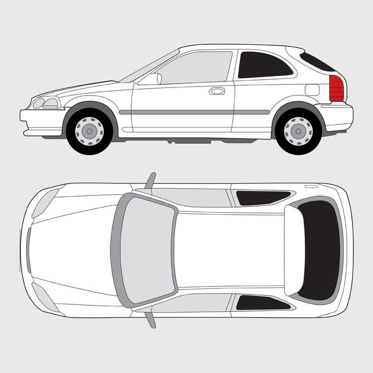 Honda Civic 3-dörrar 1995-2001