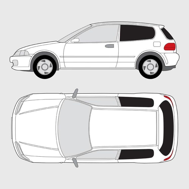 Honda Civic 3-dörrar 1991-1995