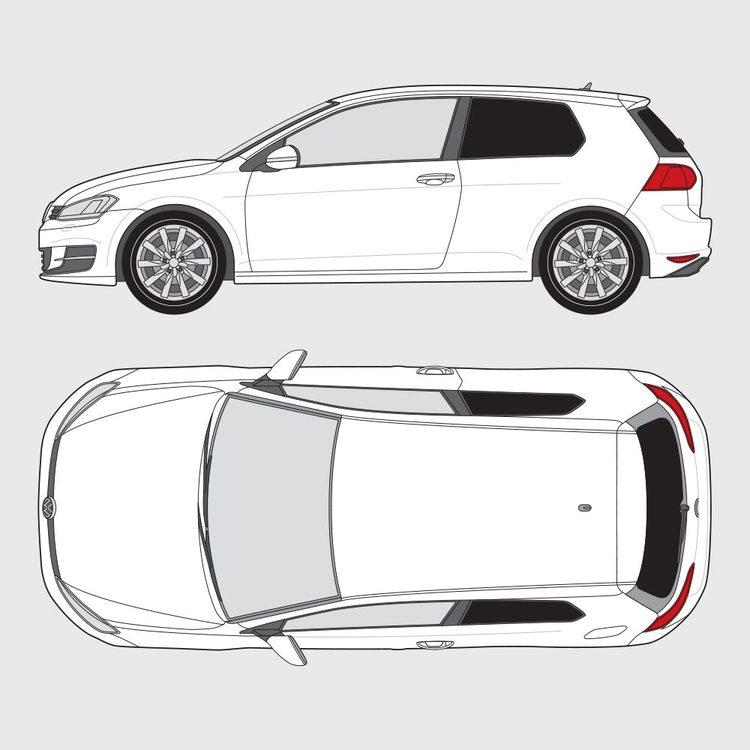 Volkswagen Golf 7 3-dörrar 2012-2016