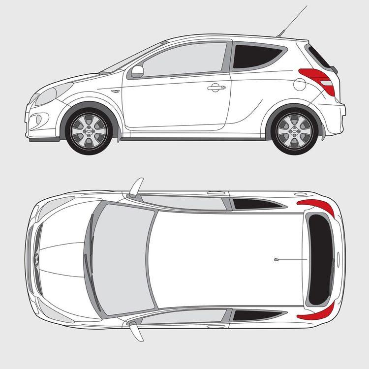 Hyundai i20 3-dörrar 2009-2015