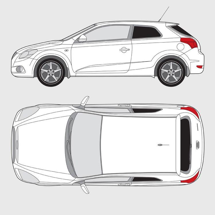 Kia Pro Ceed 3-dörrar 2007-2012