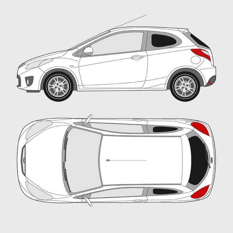 Mazda 2 3-dörrar 2007-2014