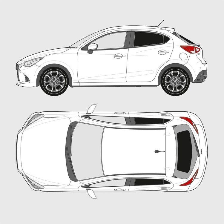 Mazda 2 5-dörrar 2014-