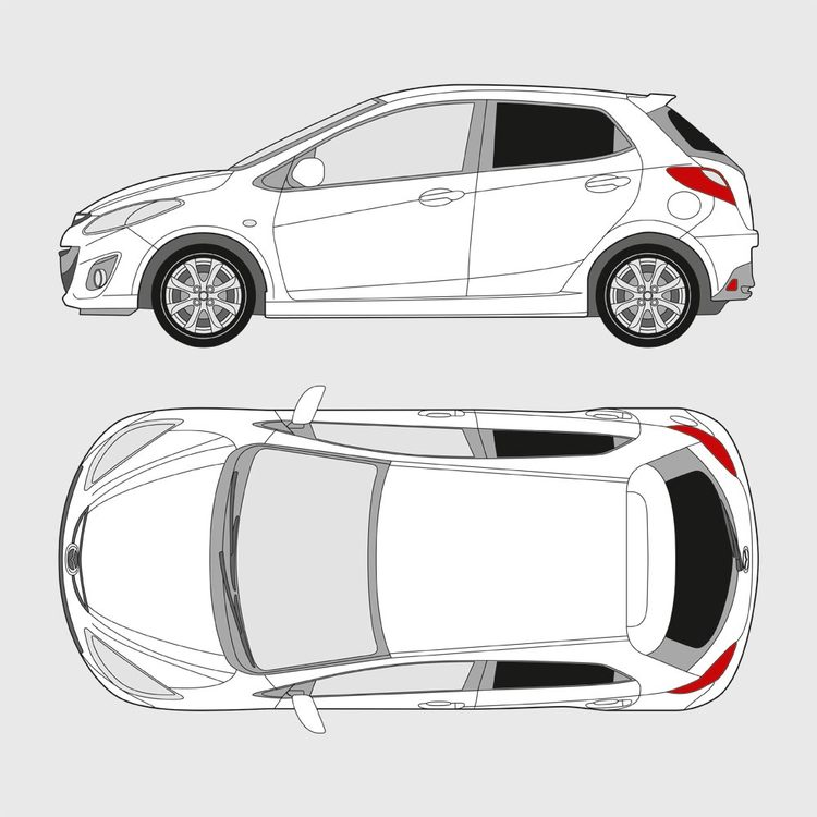 Mazda 2 5-dörrar 2007-2014
