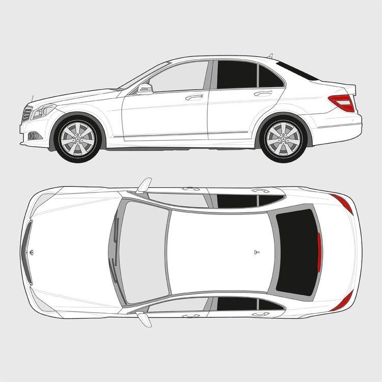 Mercedes C-Klass 4-dörrar 2007-2014