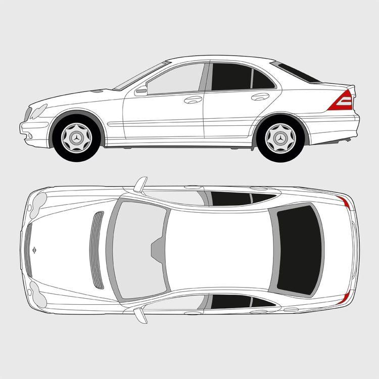 Mercedes C-Klass 4-dörrar 2000-2007