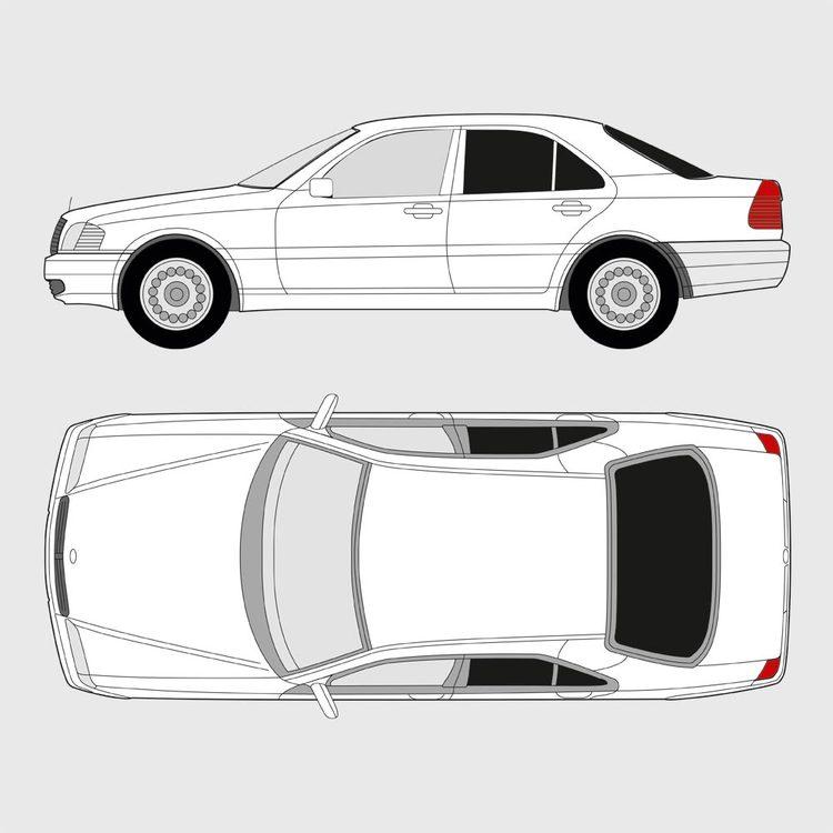 Mercedes C-Klass 4-dörrar 1993-2000