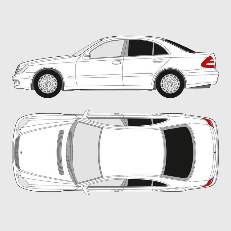 Mercedes E-Klass 4-dörrar 2002-2009
