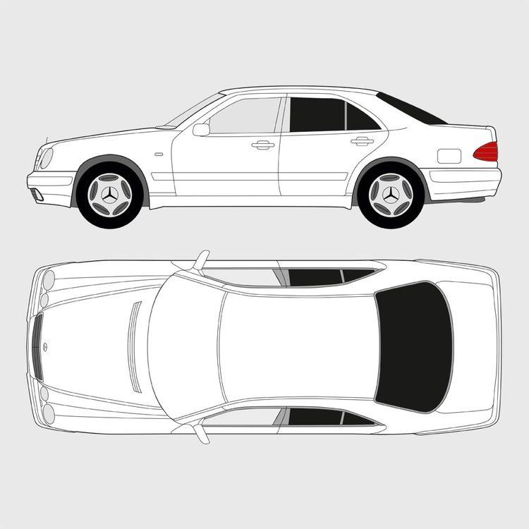Mercedes E-Klass 4-dörrar 1996-2002