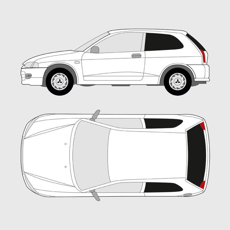 Mitsubishi Colt 3-dörrar 1996-2003