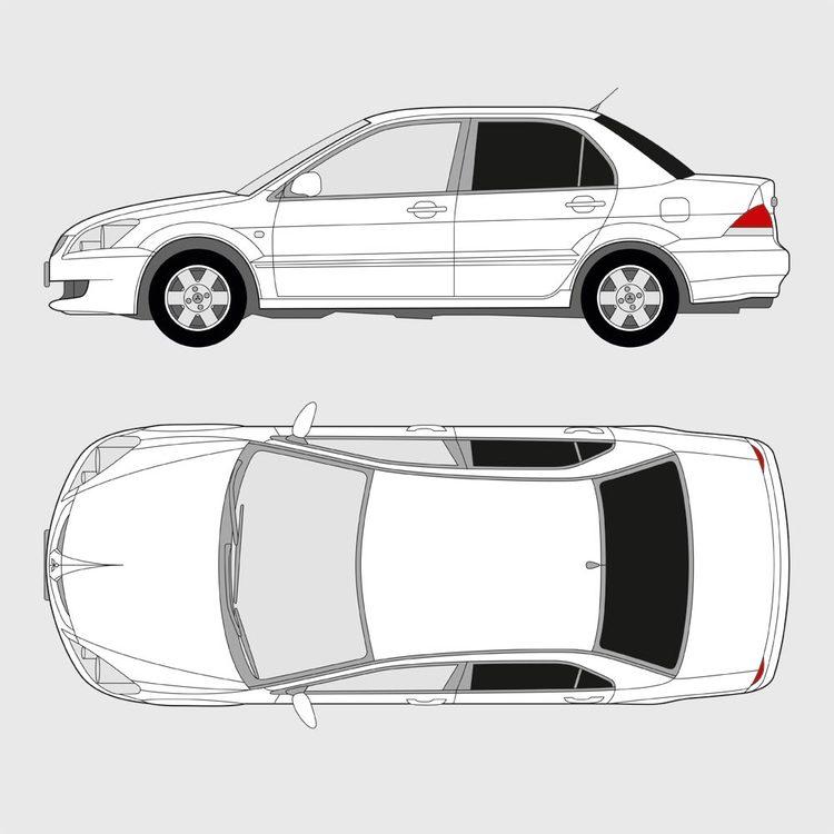 Mitsubishi Lancer 4-dörrar 2003-2008