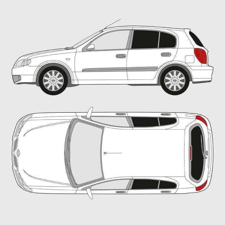 Nissan Almera 5-dörrar 2000-2006