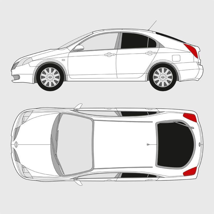 Nissan Primera 5-dörrar 2002-2007