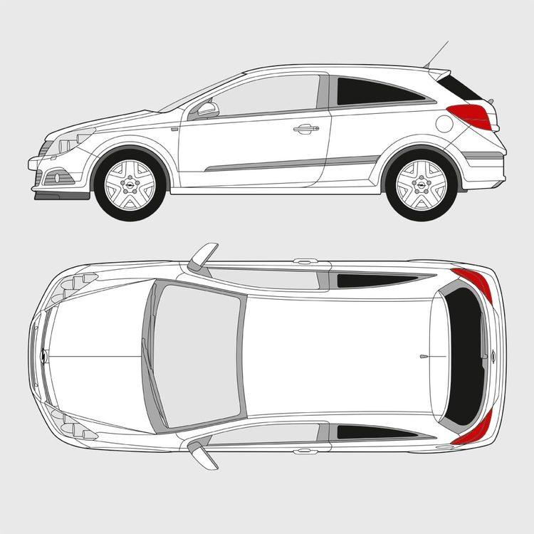 Opel Astra 3-dörrar 2005-2012
