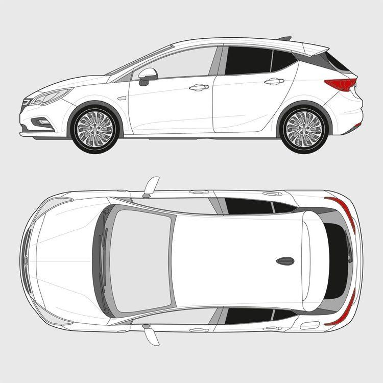 Opel Astra 5-dörrar 2015-