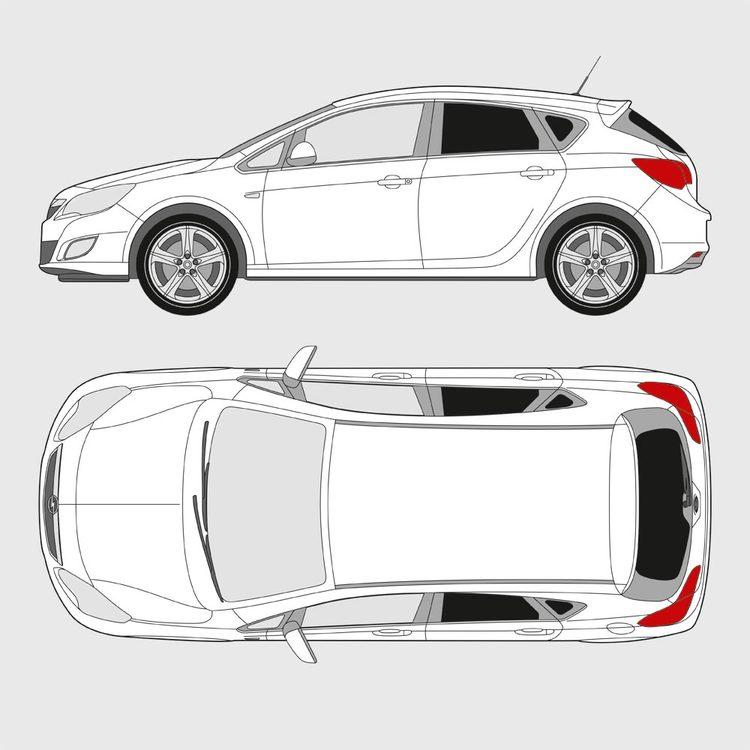 Opel Astra 5-dörrar 2010-2015