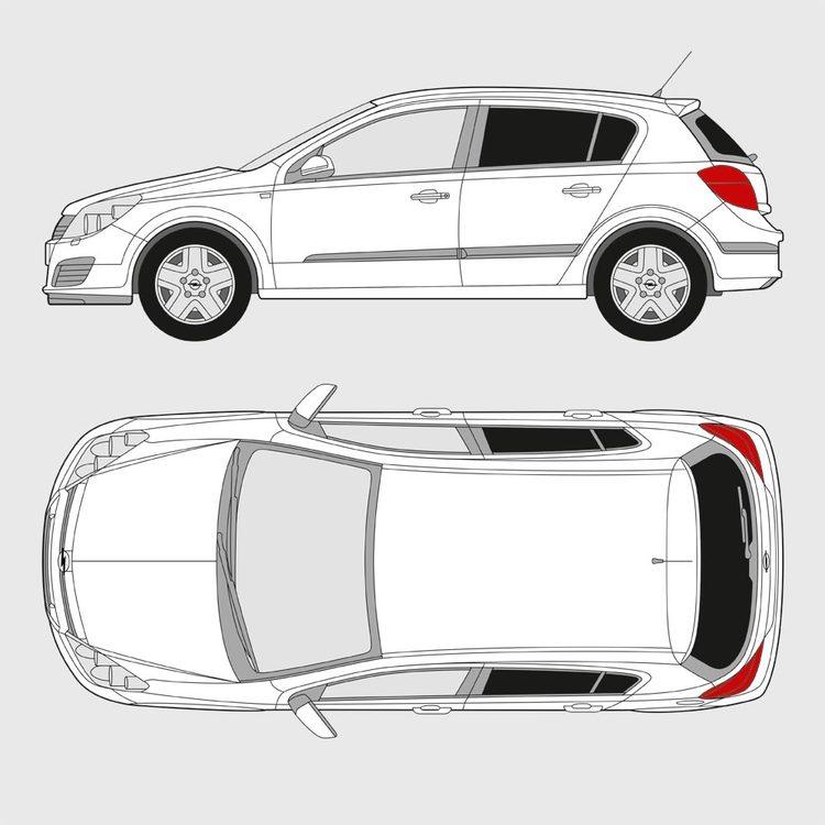 Opel Astra 5-dörrar 2004-2009
