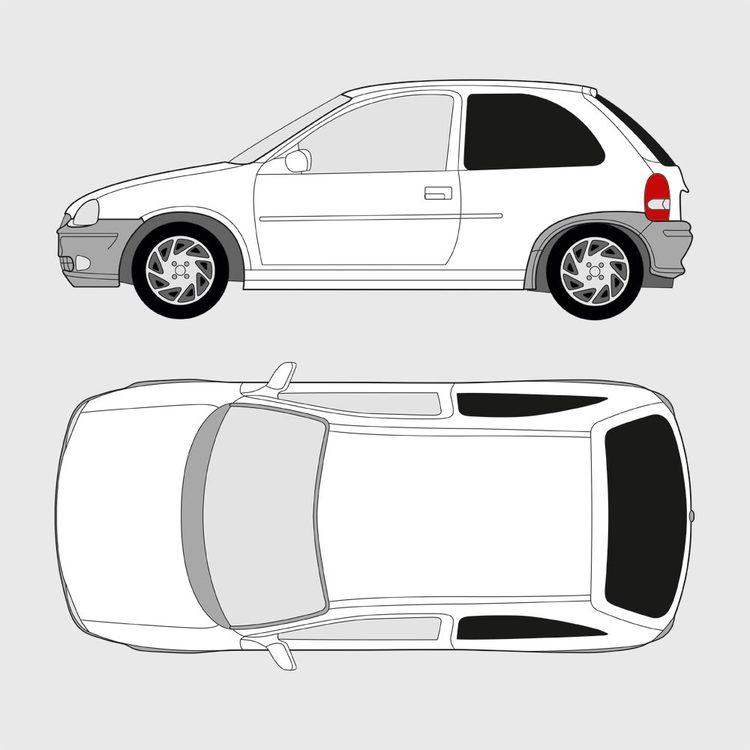Opel Corsa 3-dörrar 1993-2000