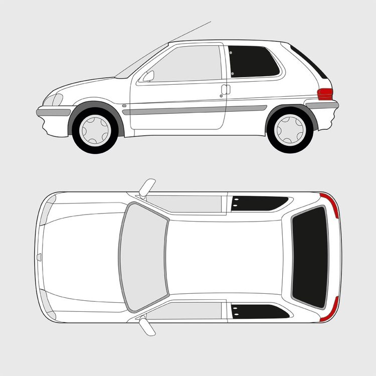 Peugeot 106 3-dörrar 1991-2003