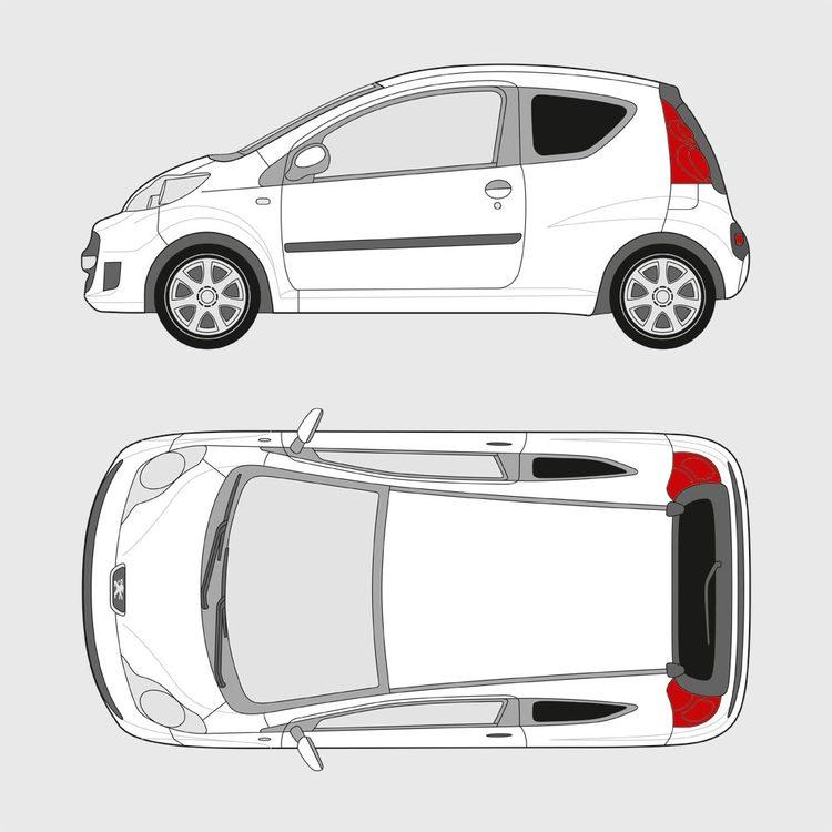 Peugeot 107 3-dörrar 2005-2014
