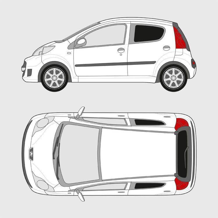 Peugeot 107 5-dörrar 2005-2014