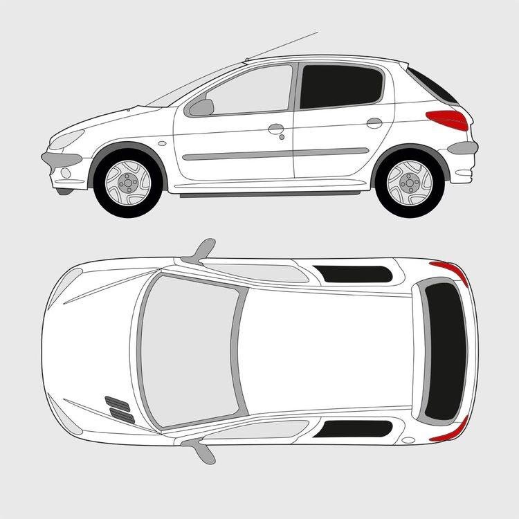 Peugeot 206 5-dörrar 1998-2009