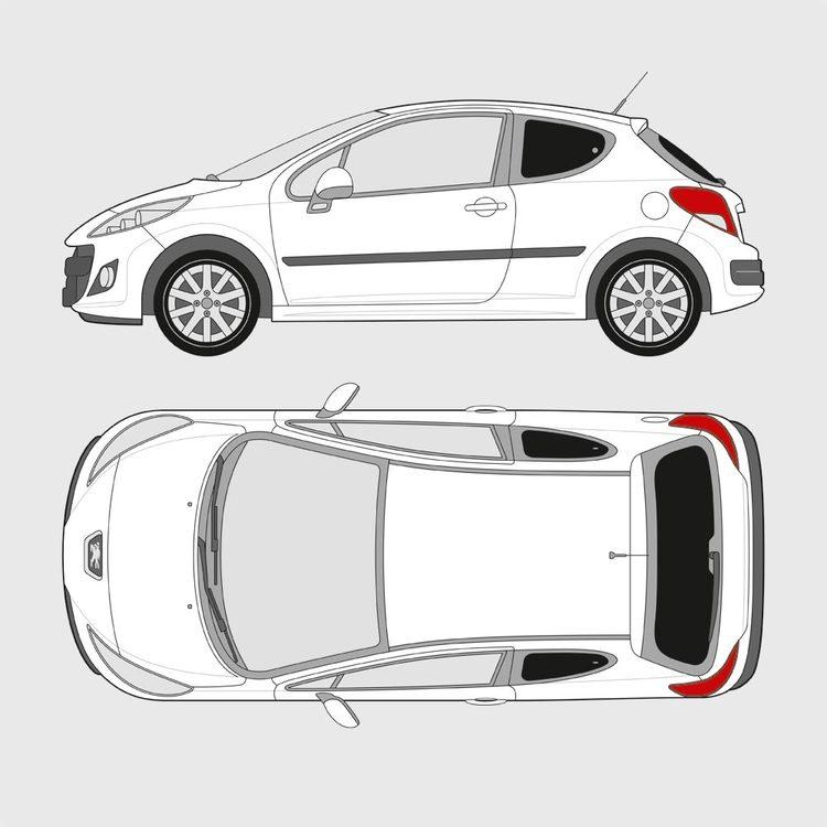 Peugeot 207 3-dörrar 2006-2012