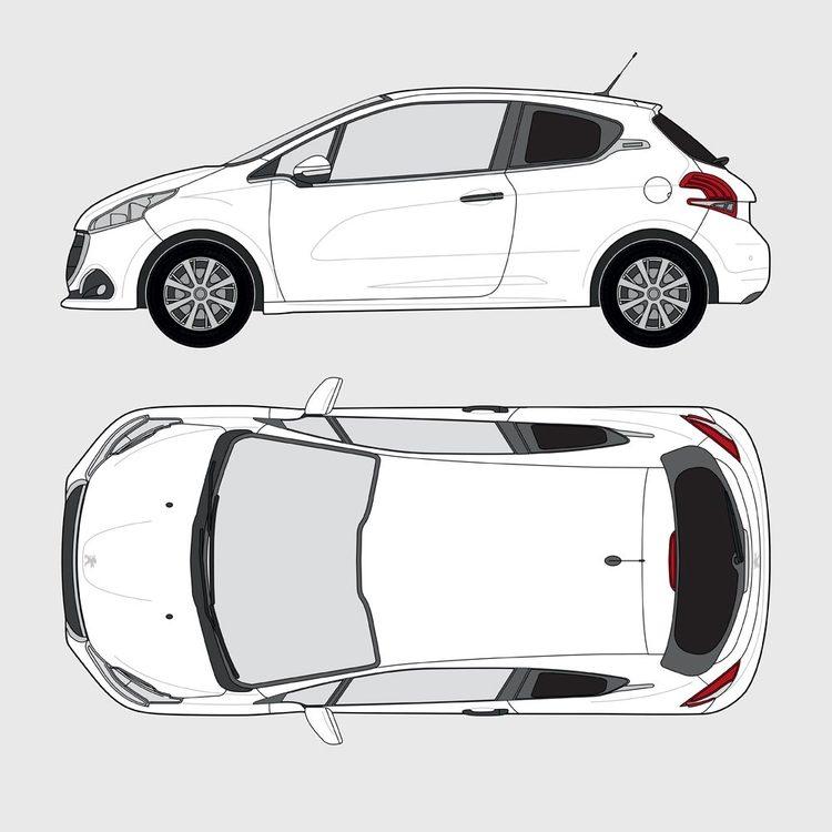 Peugeot 208 3-dörrar 2012-