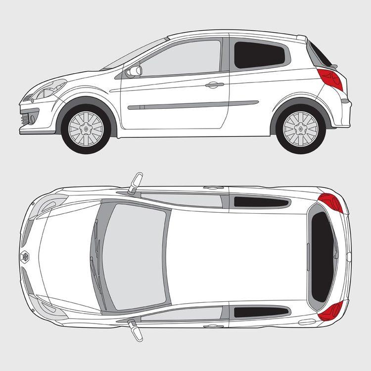 Renault Clio 3-dörrar 2005-2012