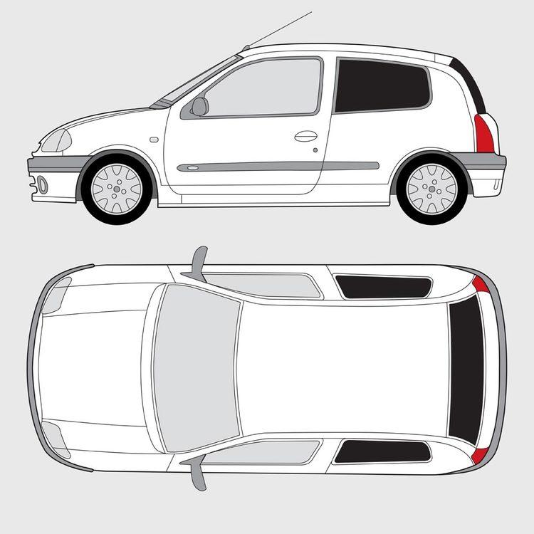 Renault Clio 3-dörrar 1998-2005