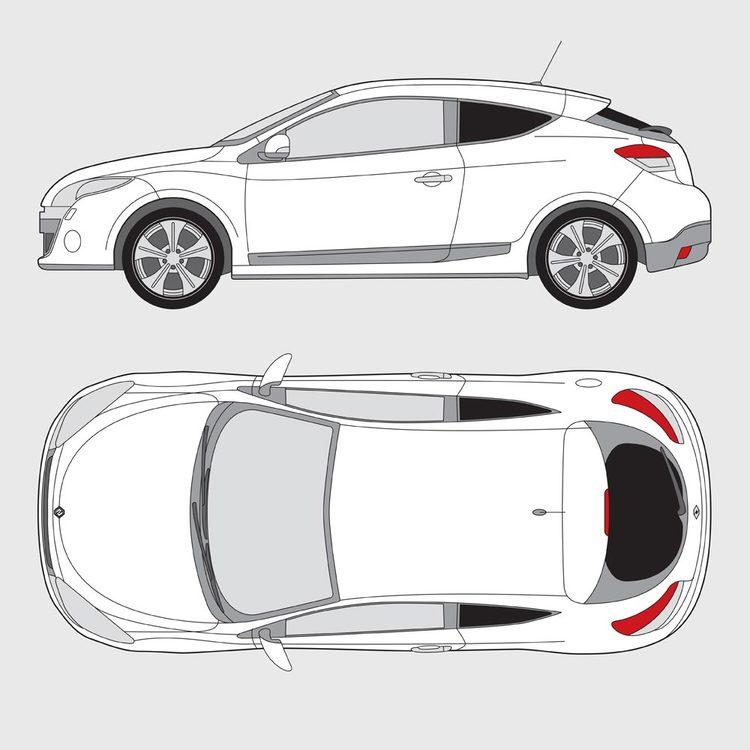 Renault Megan 3-dörrar 2008-2015